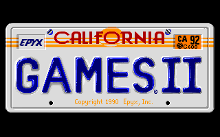 California Games II old DOS game