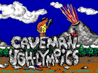 Caveman Ugh-Lympics old DOS game