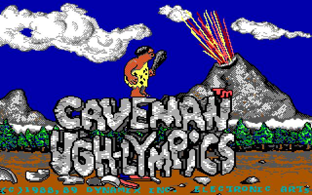 Caveman Ugh-Lympics old DOS game