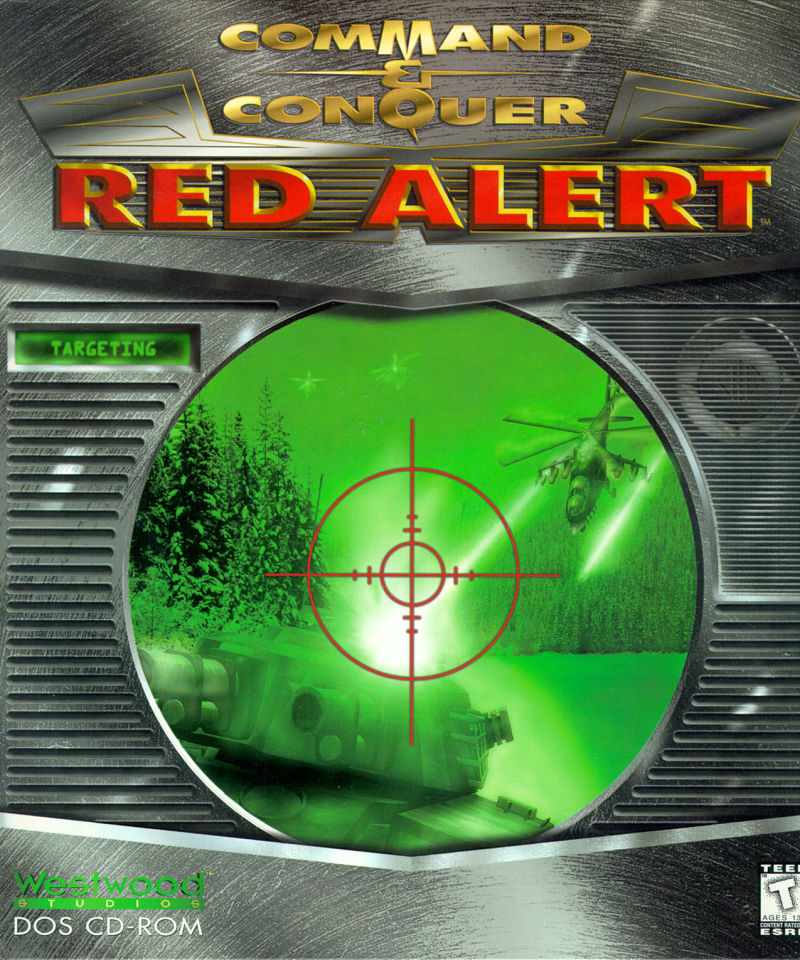 Command & Conquer Red Alert Game Box Cover Art