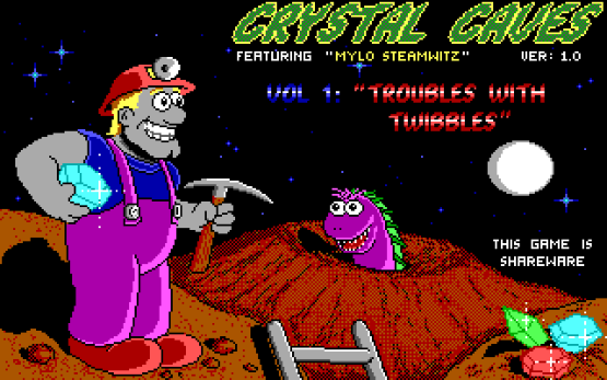 Crystal Caves old DOS game
