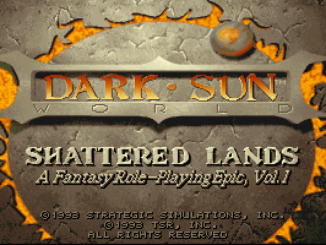 Dark Sun: Shattered Lands old DOS game