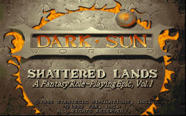 Dark Sun: Shattered Lands old DOS game