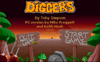 Diggers old DOS game
