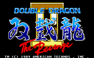 Double Dragon 2: The Revenge old DOS game