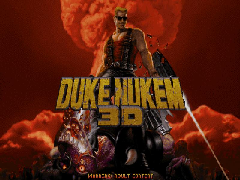 Duke Nukem 3D old DOS game