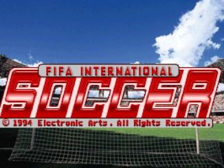 FIFA International Soccer old DOS game