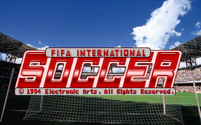 FIFA International Soccer old DOS game