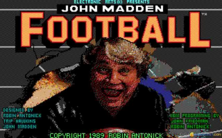 John Madden Football old DOS game
