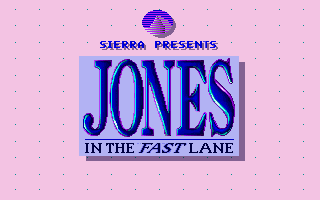 Jones in the Fast Lane old DOS game