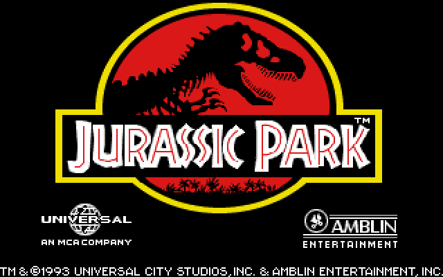 Jurassic Park old DOS game