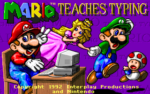 Mario Teaches Typing old DOS game