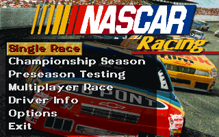 Nascar Racing old DOS game