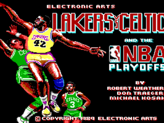Lakers versus Celtics and the NBA Playoffs old DOS game