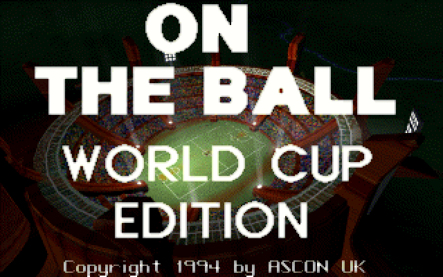 On the Ball: World Cup Edition old DOS game