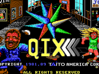 QIX old DOS game