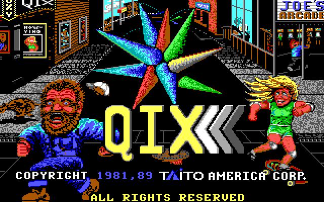 QIX old DOS game