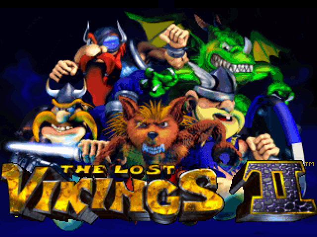 The Lost Vikings II old DOS game