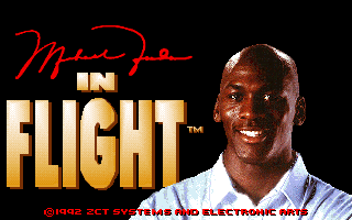 Michael Jordan in Flight old DOS game