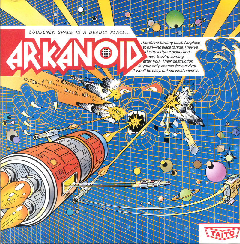 Arkanoid Game Box Cover Art