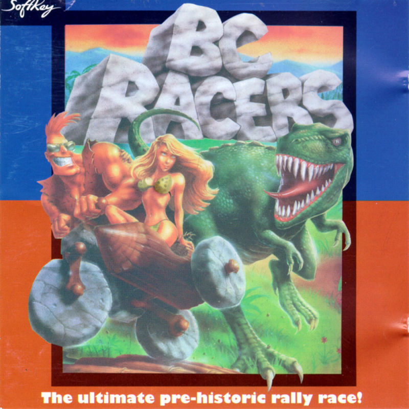 BC Racers Game Box Cover Art