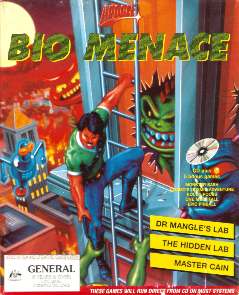 Bio Menace Game Box Cover Art