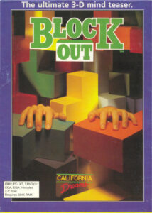 Blockout old DOS game