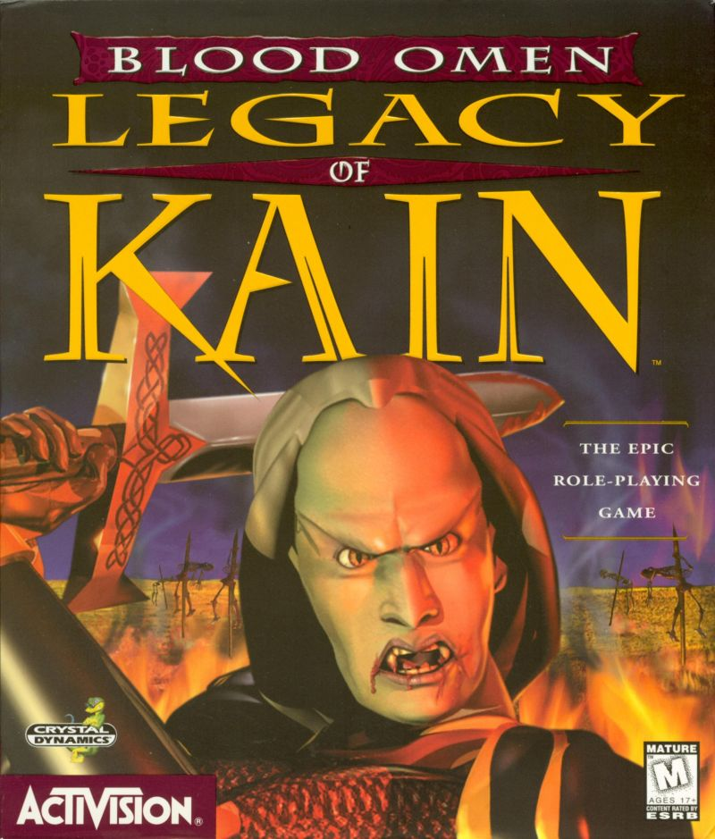 Blood Omen Legacy of Kain Game Box Cover Art