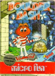 Boulder Dash Game Box Cover Art