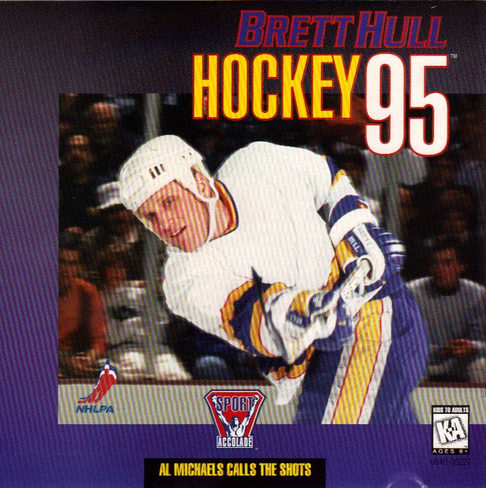Brett Hull Hockey '95 Game Box Cover Art