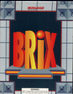 Brix old DOS game