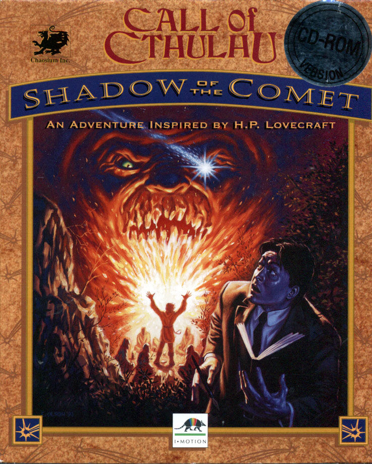 Call of Cthulhu Shadow of the Comet Game Box Cover Art