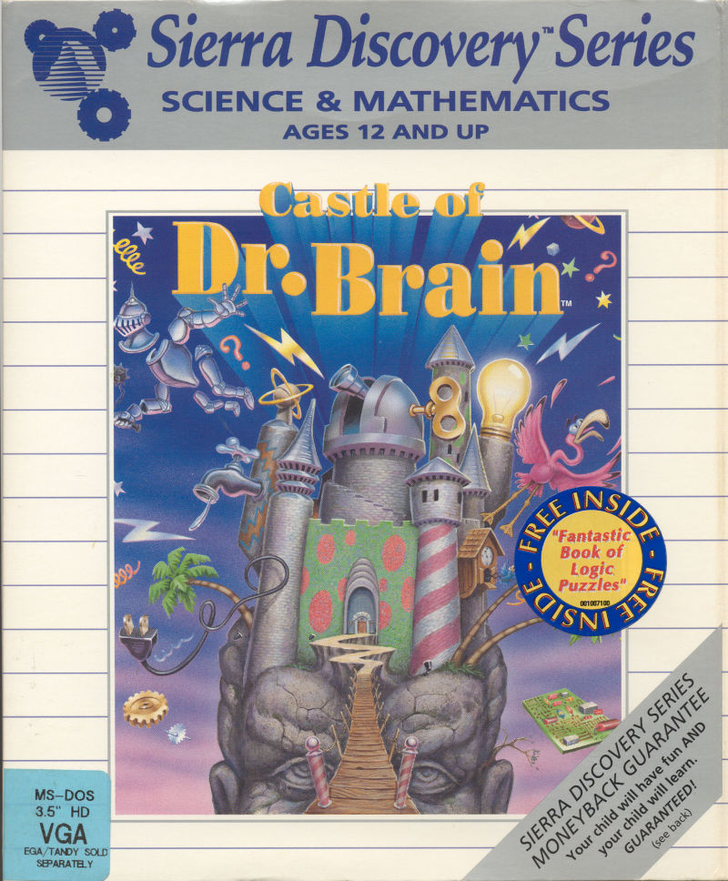 Castle of Dr. Brain Game Box Cover Art