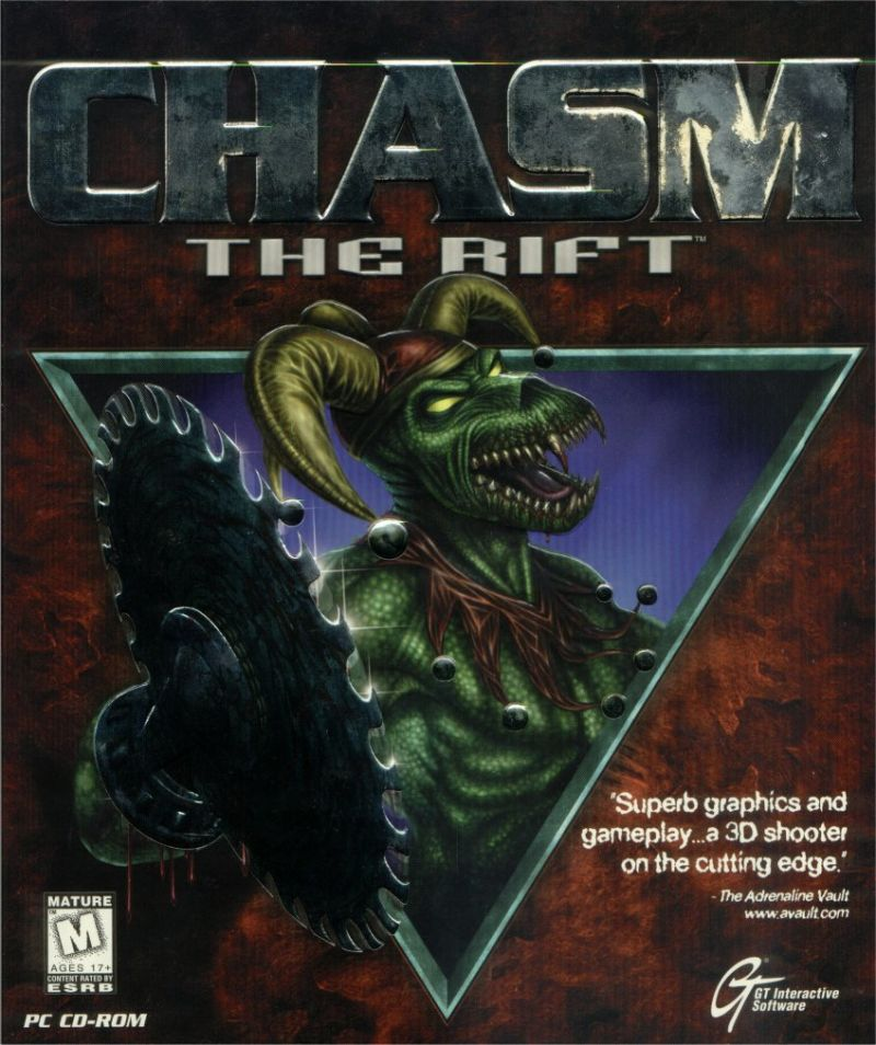 Chasm The Rift DOS Game Box Cover Art