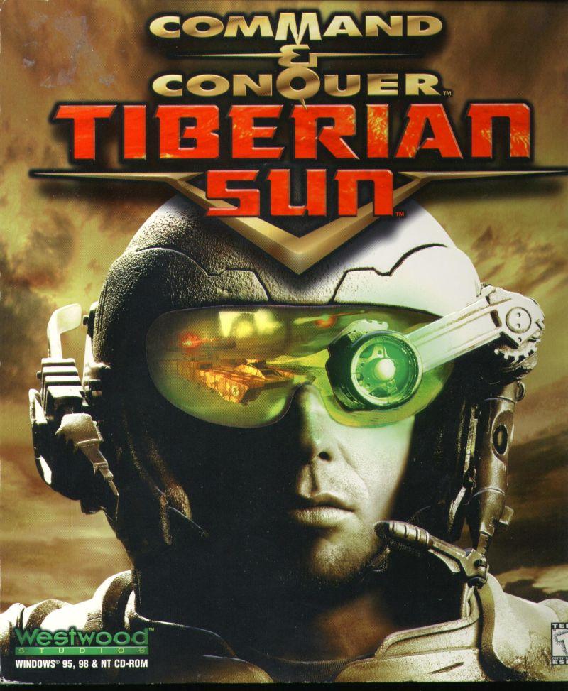 Command Conquer Tiberian Sun Game Box Cover Art