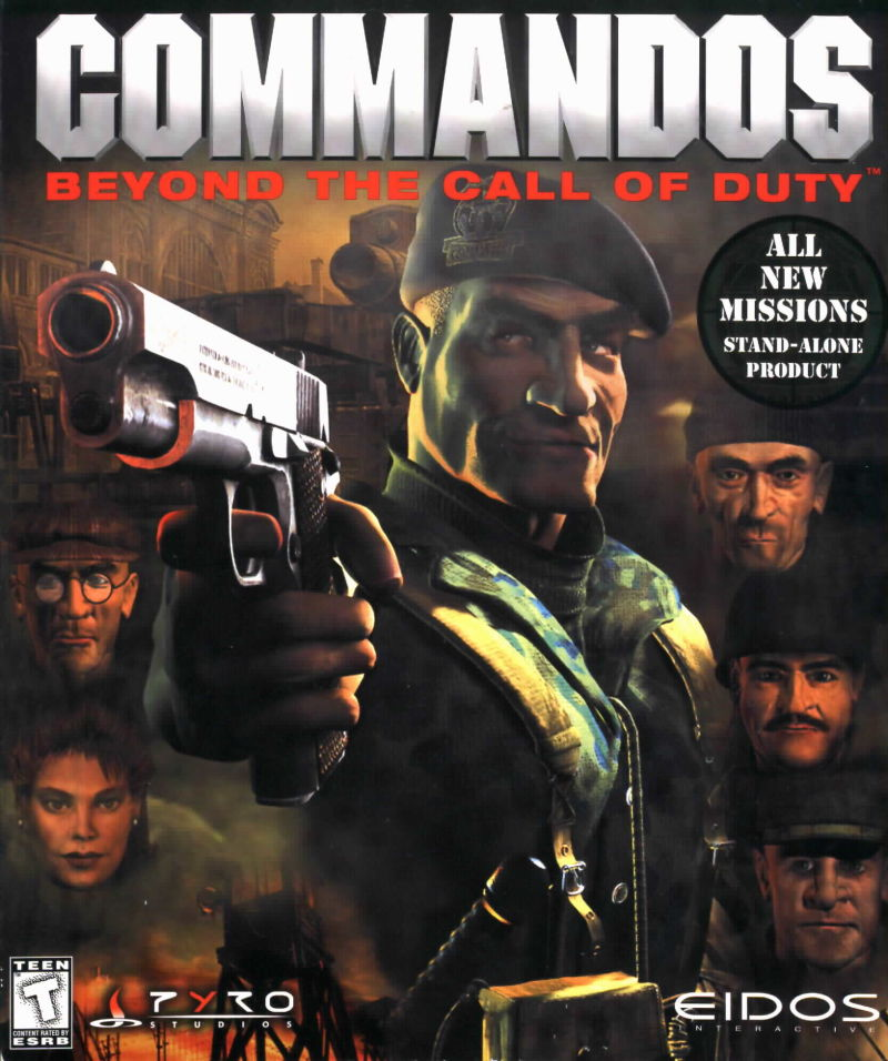 Commandos Beyond the Call of Duty Game Box Cover Art