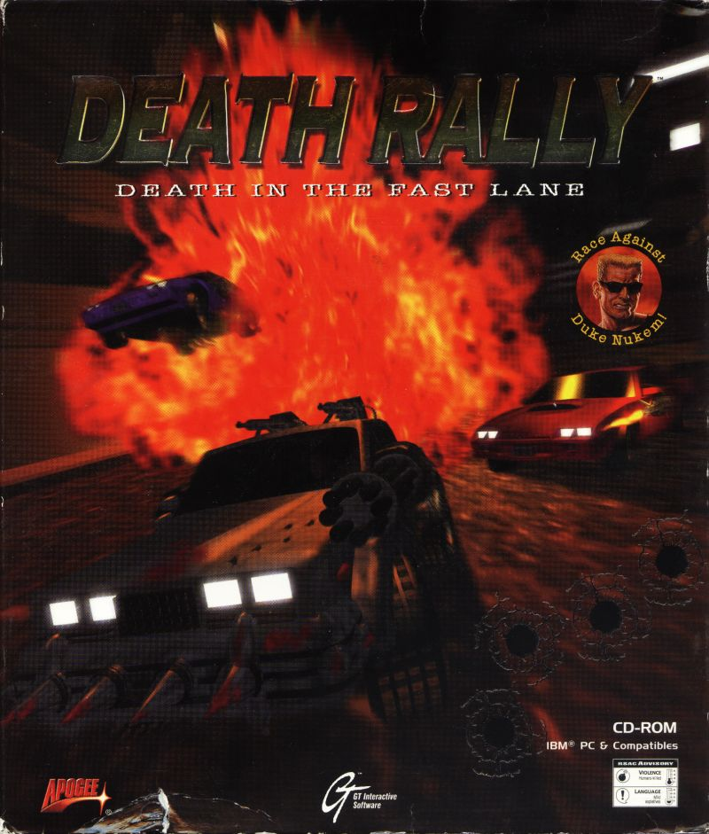 Death Rally Game Box Cover Art