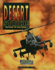 Desert Strike Return to the Gulf Game Box Cover Art