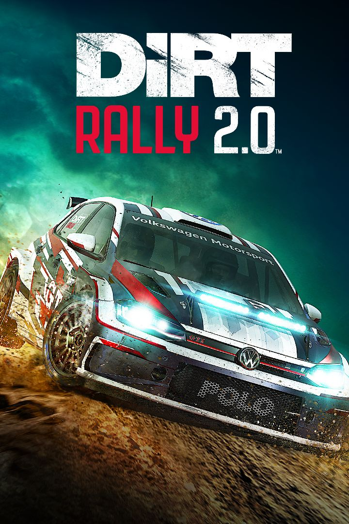 DiRT Rally 2.0 Game Box Cover Art