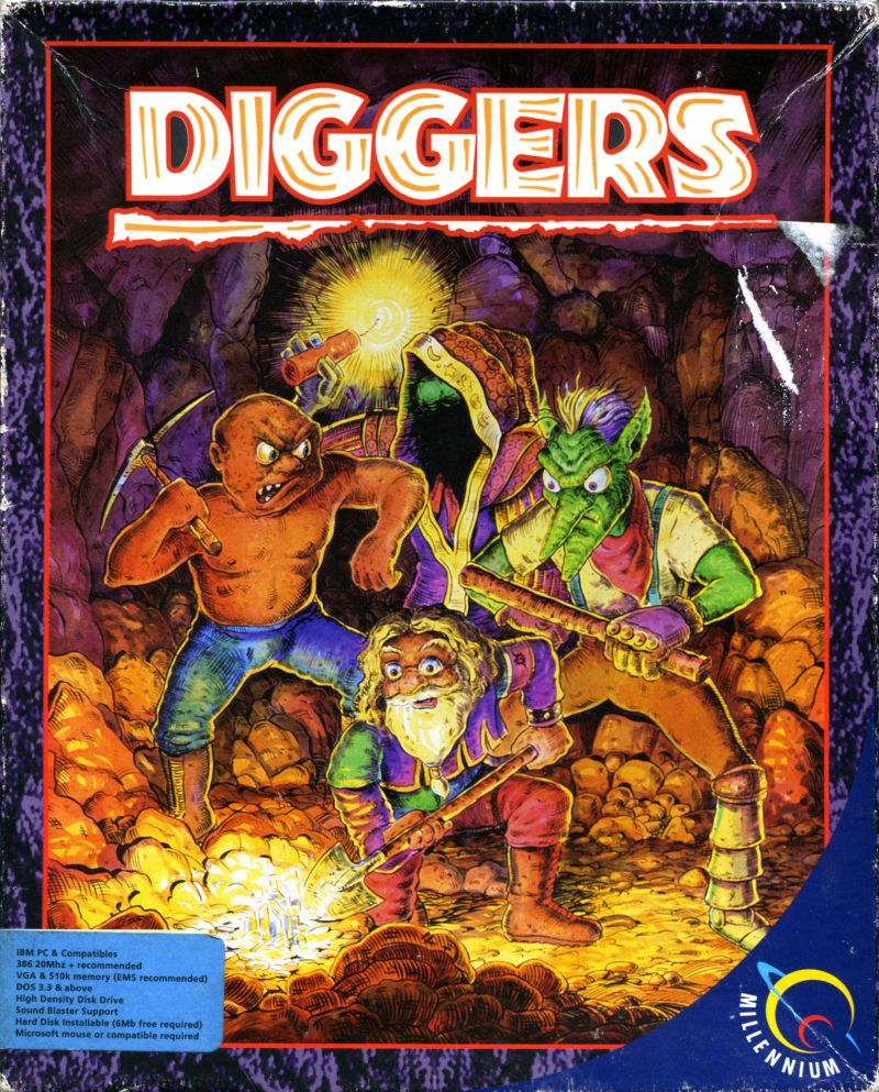 Diggers Game Box Cover Art
