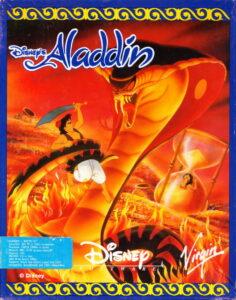 Disney's Aladdin Game Box Cover Art