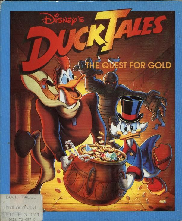 Disney's Duck Tales The Quest for Gold Game Box Cover Art