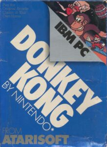 Donkey Kong Game Box Cover Art