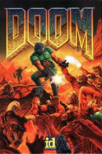 Doom old DOS Game Box Cover Art