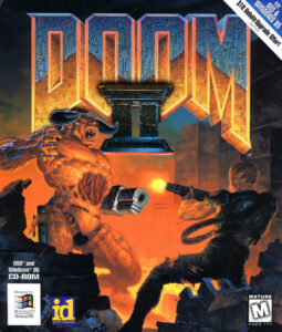 Doom 2: Hell on Earth old DOS Game Box Cover Art