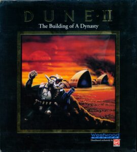 Dune 2 The Building of a Dynasty Game Box Cover Art