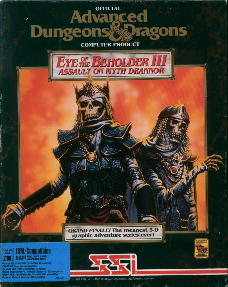 Eye of the Beholder III Assault on Myth Drannor Game Box Cover Art