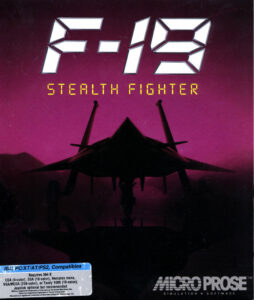 F-19 Stealth Fighter Game Box Cover Art