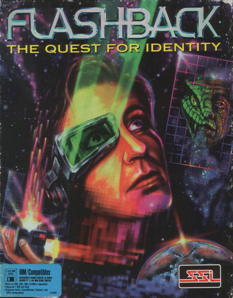 Flashback – The Quest for Identity Game Box Cover Art