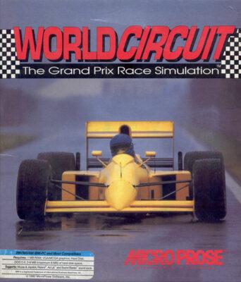 Formula One Grand Prix DOS Game Box Cover Art